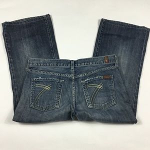 7 For All Mankind Jeans - 74AM Cropped Dojo Jeans Womens Size 30